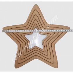 Ξύλινα Τελάρα Αστέρι 13εκ εως 30εκ Σετ 5τεμ
